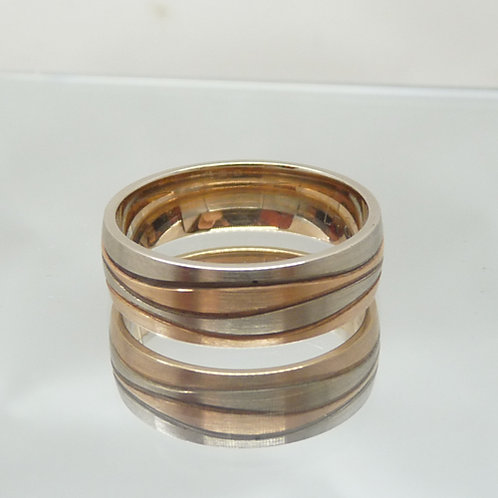 18ct Two-Tone Wedder