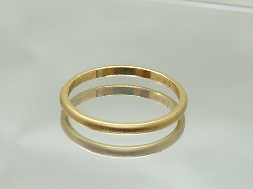 18ct Yellow Gold Matte-Finish Ring