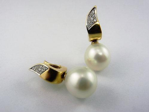 Decadent 18ct Diamond Encrusted Flame Earrings 410151