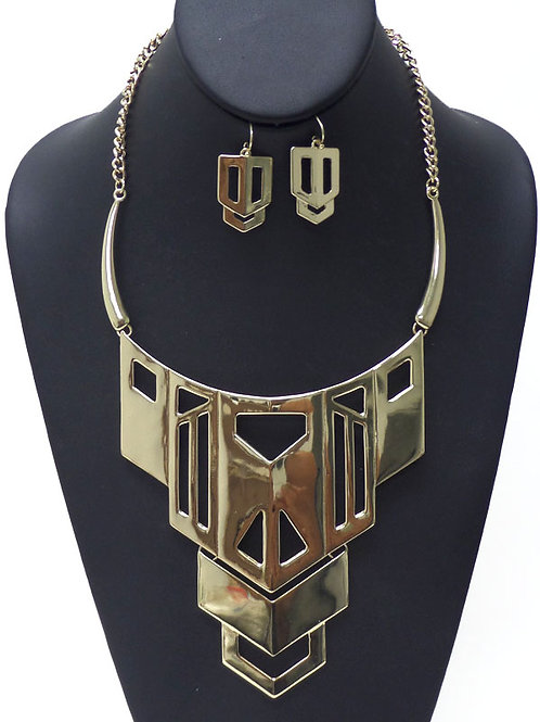 Gold or Silver Bold & Beautiful Necklace Set