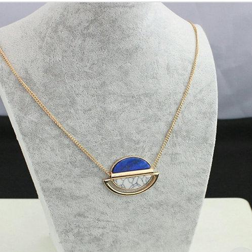Blue & White Orbit Necklace Set