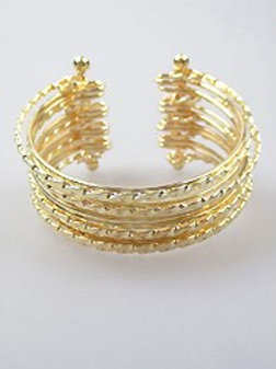 Gold or Silver Layered Stackable Cuff