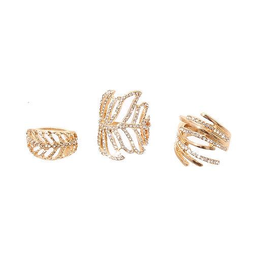 Gold Autumn Midi Ring Set