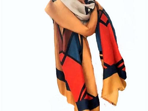 Colorblock Fashion Scarf