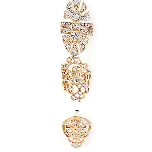 Gold Victorian Ring Set