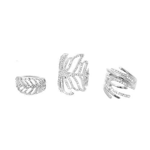 Silver Autumn Midi Ring Set