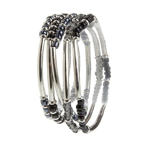 Shimmering Beaded Bracelets