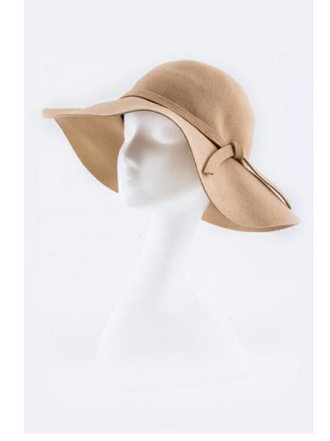 Skinny Bow Floppy Hat
