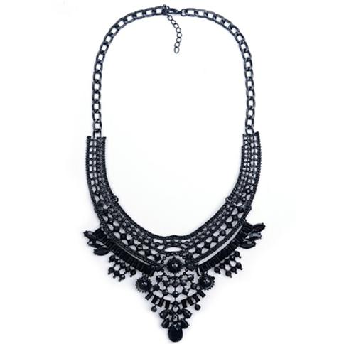 Black Masquerade Necklace
