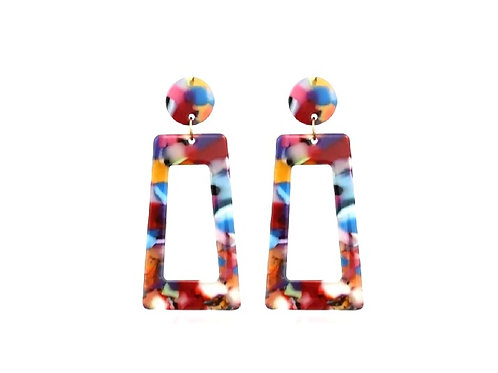 Colorful Canvas Earrings