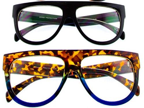Flat Top Clear Lens Glasses