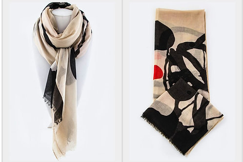 Abstract Brushstroke Scarf