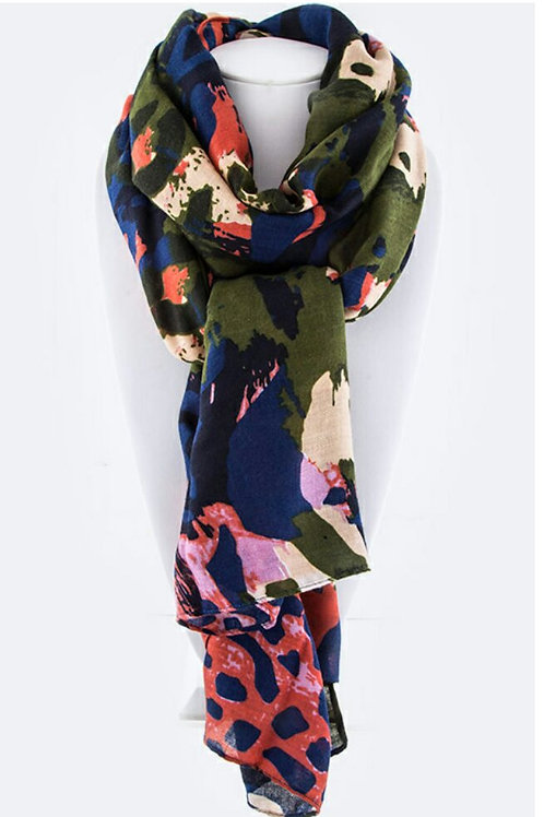 Abstract Leopard Fashion Scarf