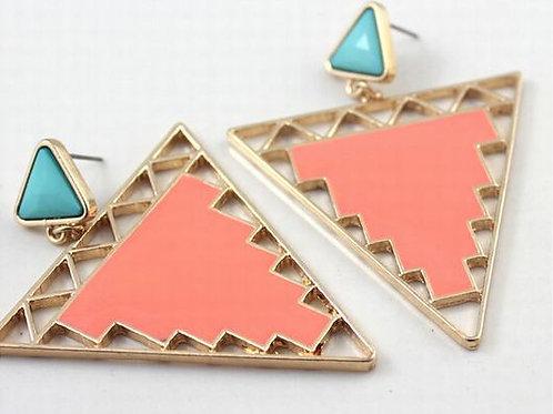Pastel Triangle Drop Earrings