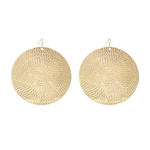 Gold or Silver Disc Earrings