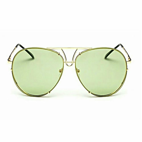 Green With Envy Aviator Shades