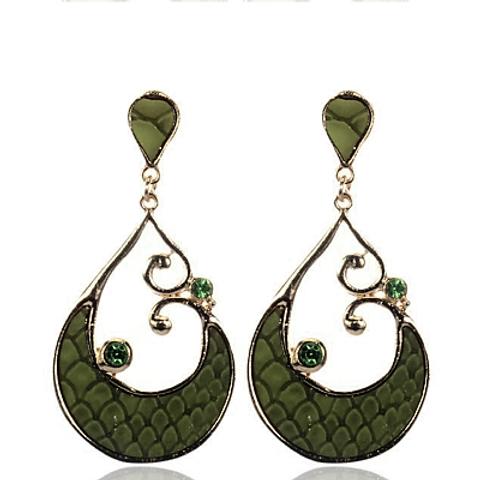 Snakeskin Drop Earrings