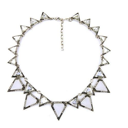White Ice Statement Necklace