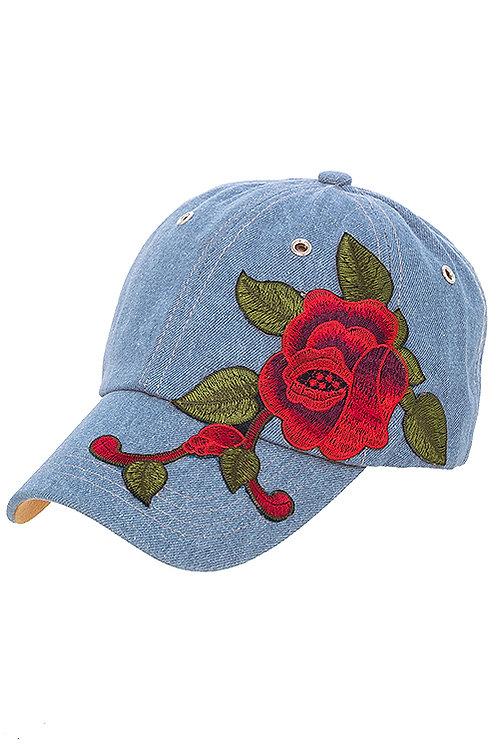 Simone Rose Denim Hat