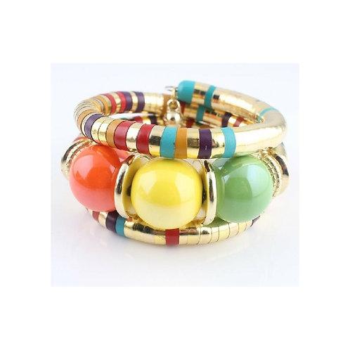 Color Coded Coil Wrap Bracelet