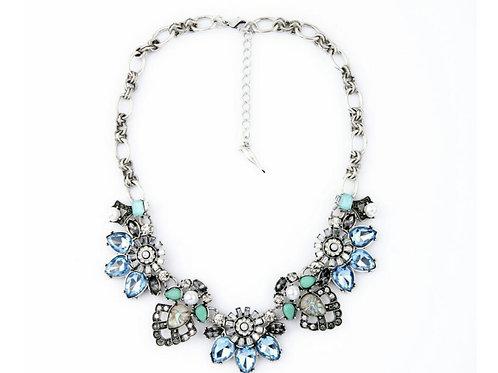Blue Majesty Statement Necklace Set