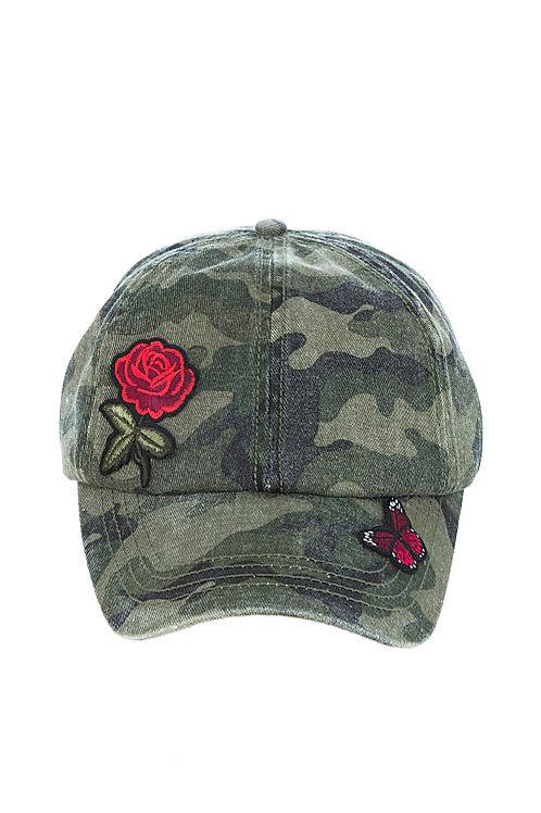 Simone Rose Camouflage Hat