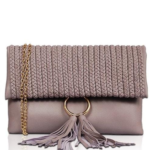 Fashion Clutch Bag w/ Tassel