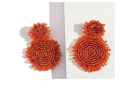 Beaded Sundial Earrings