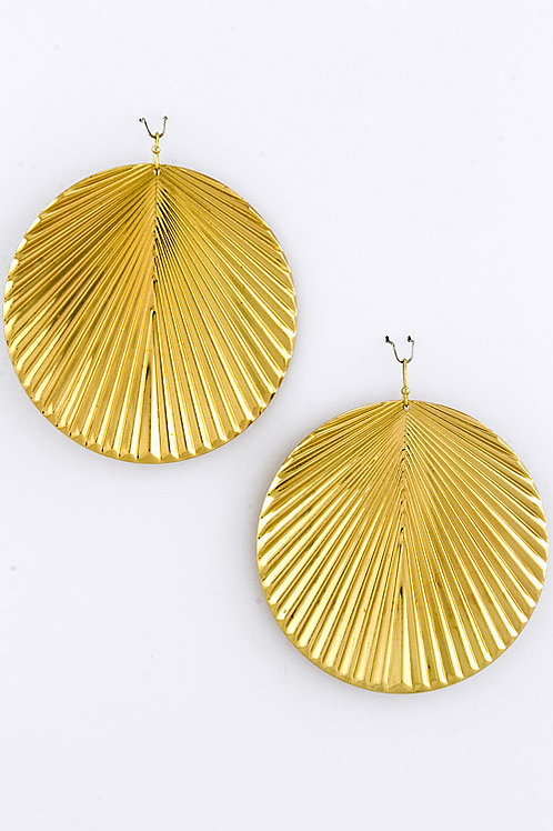 Andisa Jagged Round Earrings - Gold