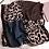 Thumbnail: Leopard Print Fashion Scarf - Blue