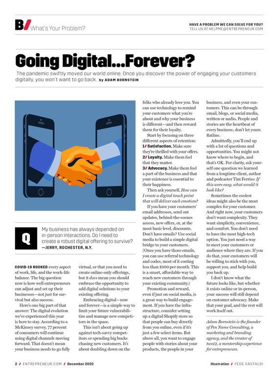 Going Digital... Forever?