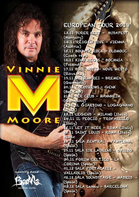 BAD As announces European tour together with Vinnie Moore