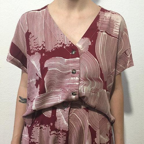 Camisa Jane estampa vinho