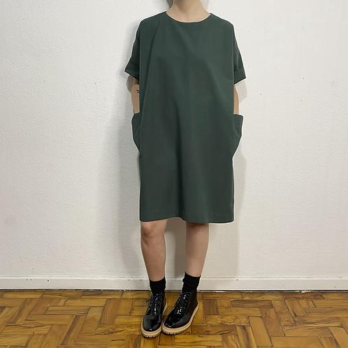 Vestido Clarice verde floresta