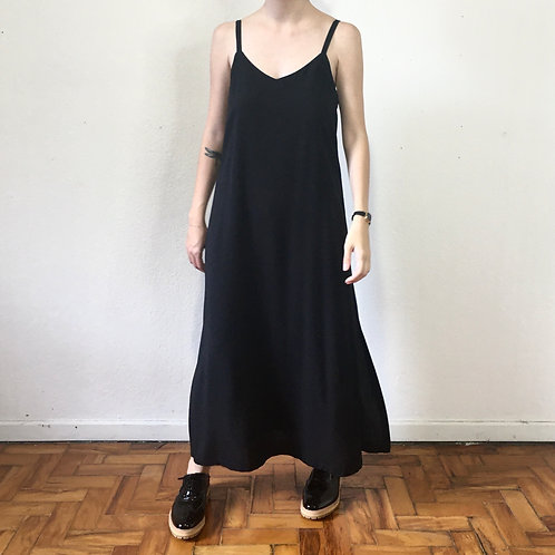 Vestido Slip Dress preto