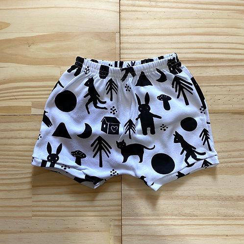 Shorts saruel 'florestinha'