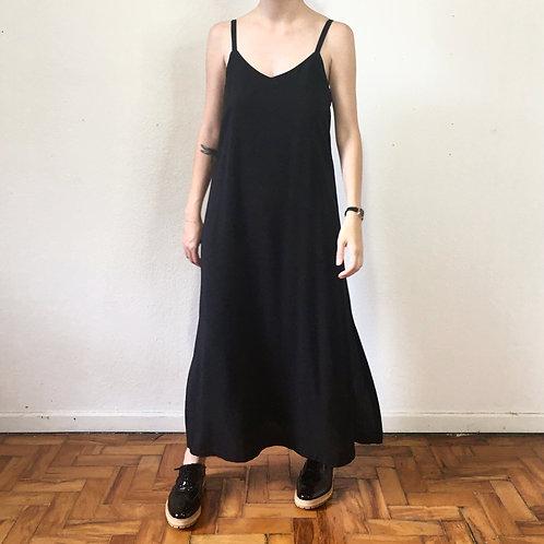 Vestido Slip Dress preto