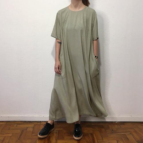 Vestido Morgana verde chá