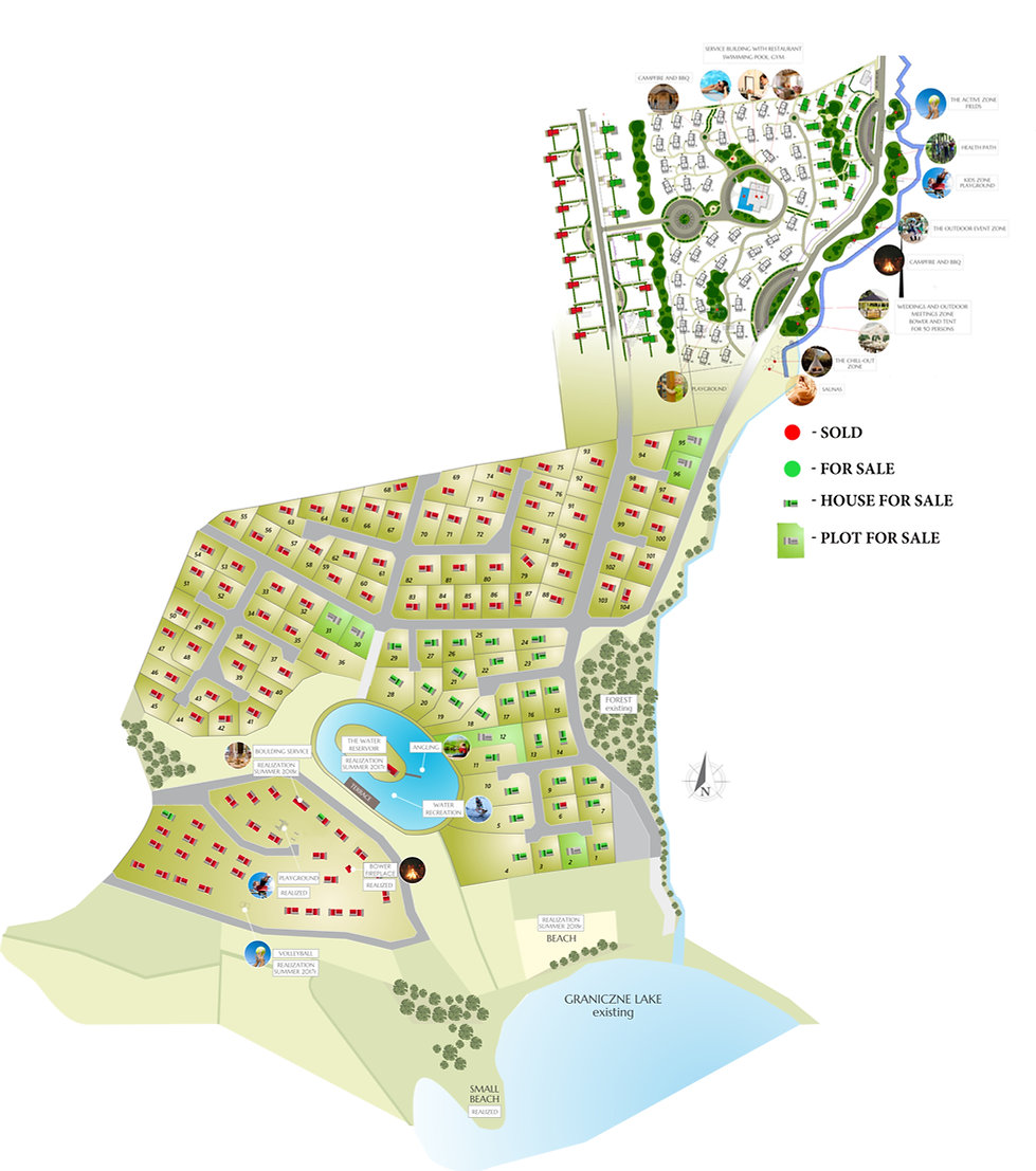 Barkocin Village - map of he project