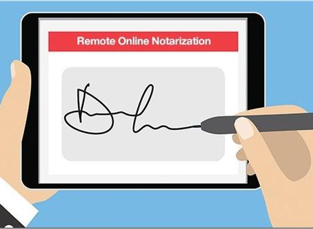 Will COVID19 accelerate the move to e-Notarization?