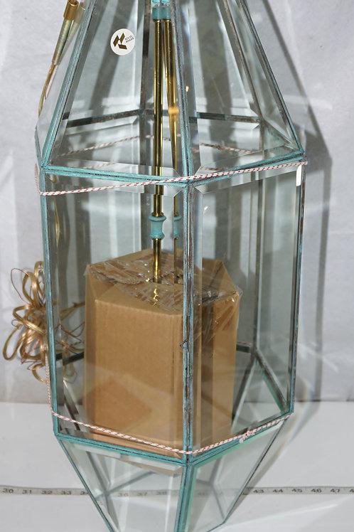Brass Hanging Light Fixture - New