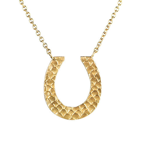 Alison Macleod- Catkin Good Luck Charm Necklet 18ct Yellow Gold