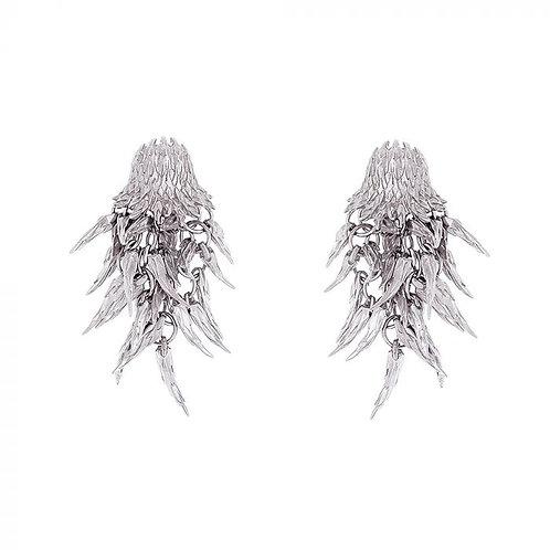 Simon Harrison Jewellery- Dionysus Bear Drop Earrings Silver