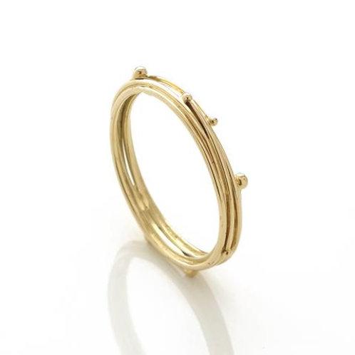 YEN- Yellow Gold Band Ring