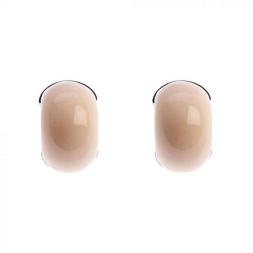 Simon Harrison Jewellery- Maia Stainless Steel Hoop Earring - Cream