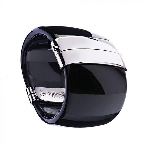 Simon Harrison Jewellery- Maia Stainless Steel Bangle Black