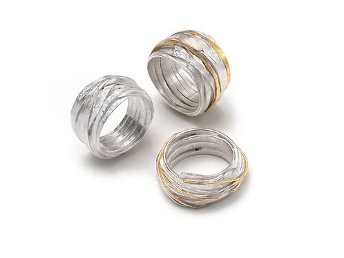 Shimara Carlow- Silver and Silver and Gold Wrap Rings