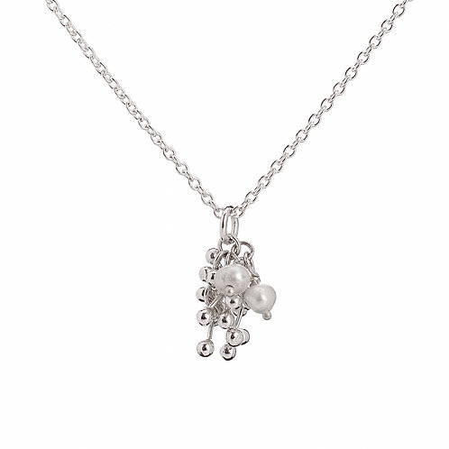YEN- Silver and Pearl Necklace