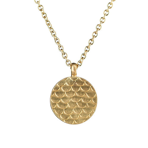 Alison Macleod- Catkin Coin Pendant 18ct Yellow Gold