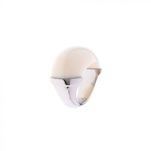 Simon Harrison Jewellery- Maia Stainless Steel Domed Ring Cream